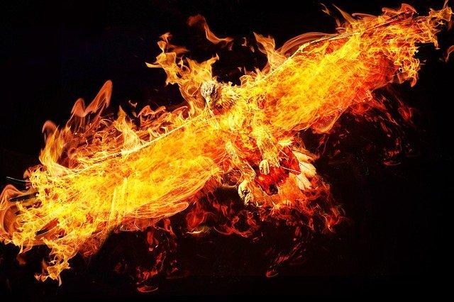 燃え盛る不死鳥フェニックス