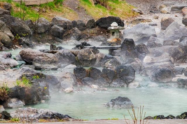 草津温泉の景色