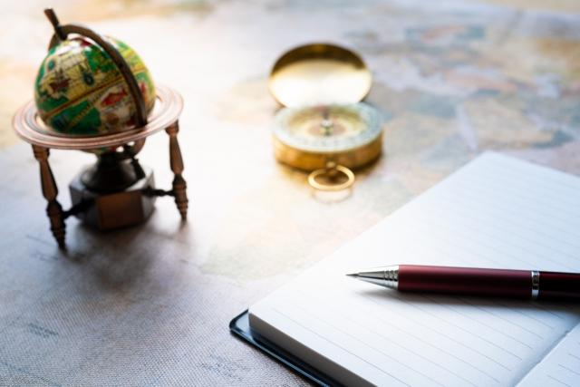 世界地図を眺めて